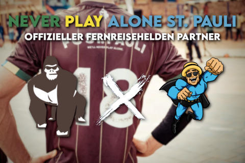 Never Play Alone - St. Pauli e.V. - Fernreisehelden Partner